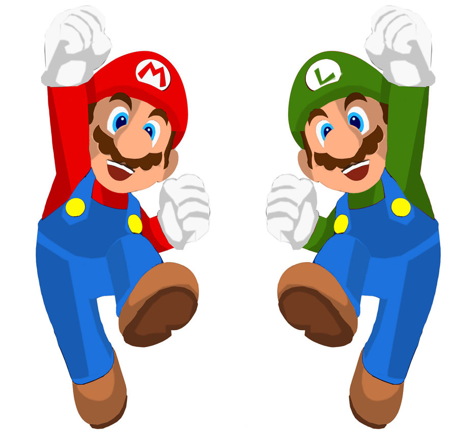 Mario and Luigi Clip Art
