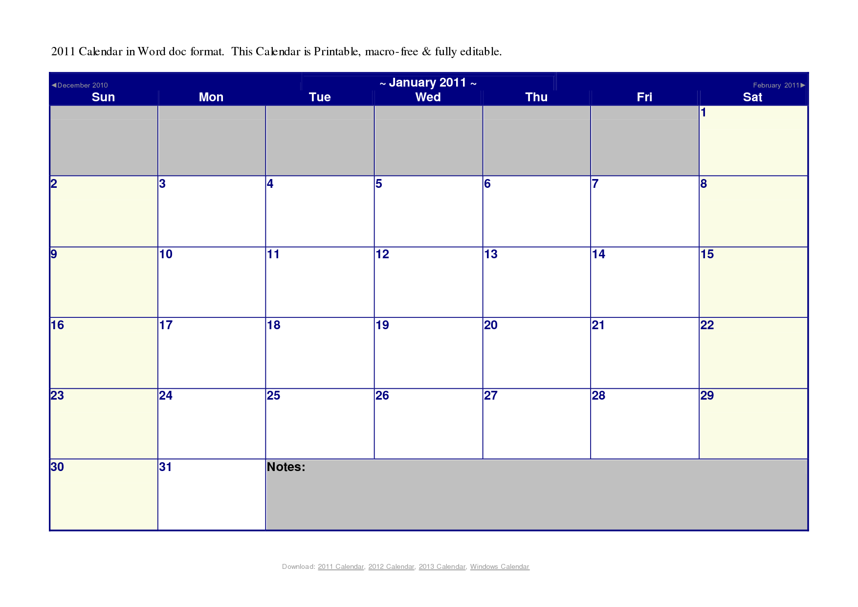 20 Microsoft Blank Calendar Template Images