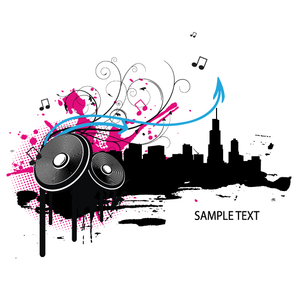 15 Free Vector Music Graphics Images