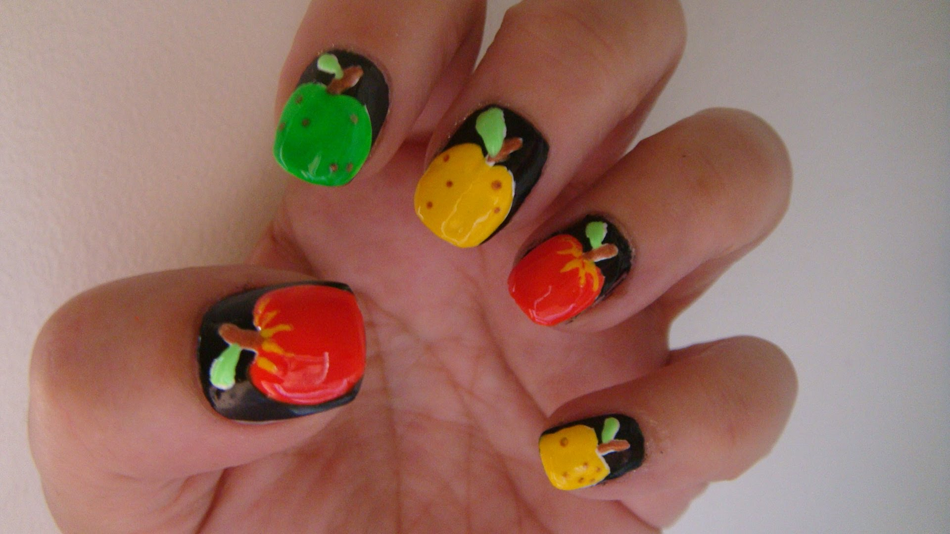 Nail Art Fruit Apple