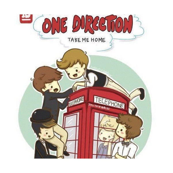 One Direction Cartoon Drawings