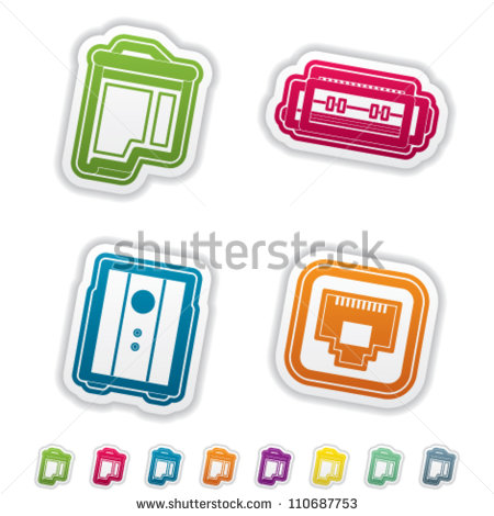 5 Printer Ink Icon Set Images