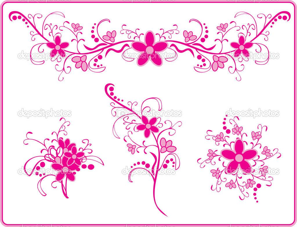 19 pink floral vector images pink swirl vector graphics pink pink flower pattern mightylinksfo Choice Image
