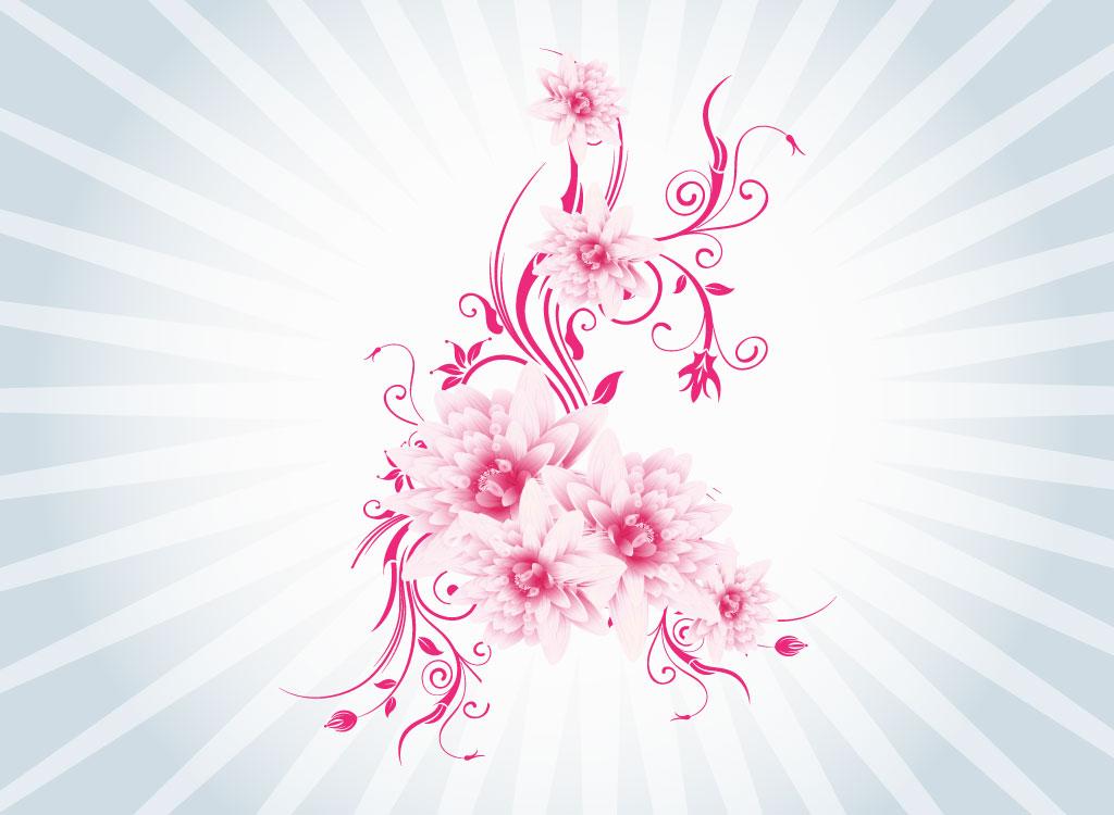 Pink Flower Vector