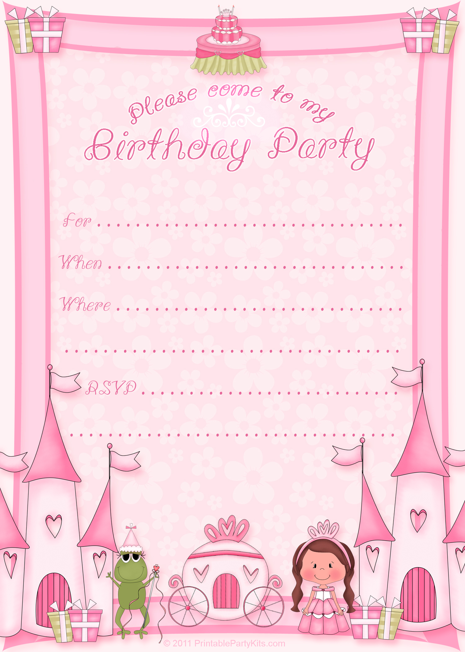10 Birthday Printable Invitation Templates Images