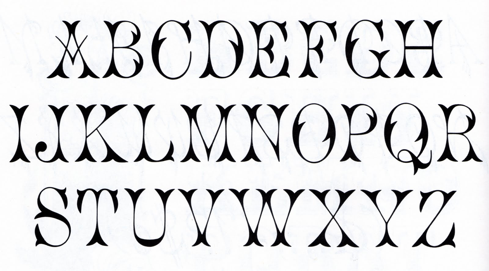 Printable Alphabet Letter Fonts