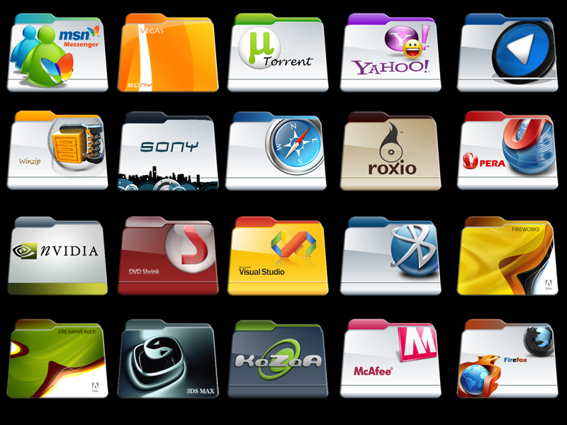 12 Project File Folder Icons Images