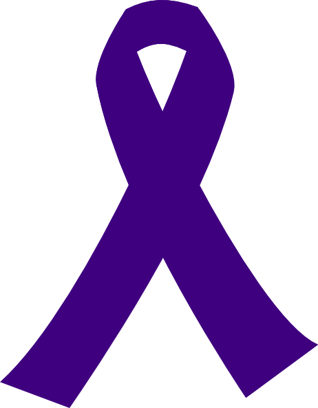Purple Cancer Ribbons Clip Art
