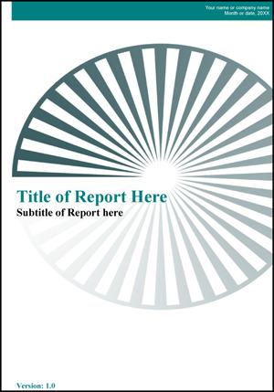 Report Cover Page Template