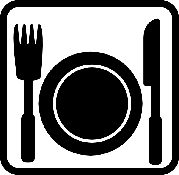 8 Black White Restaurant Icons Images