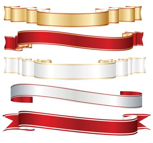 15 Silver Ribbon Banner Vector Free Images