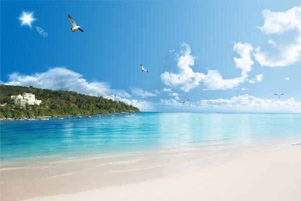 Romantic Beach Scenery