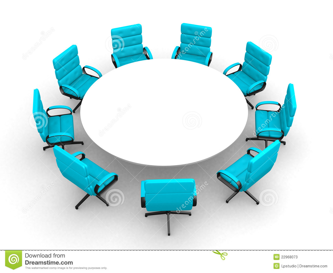 Round Table Meeting Clip Art