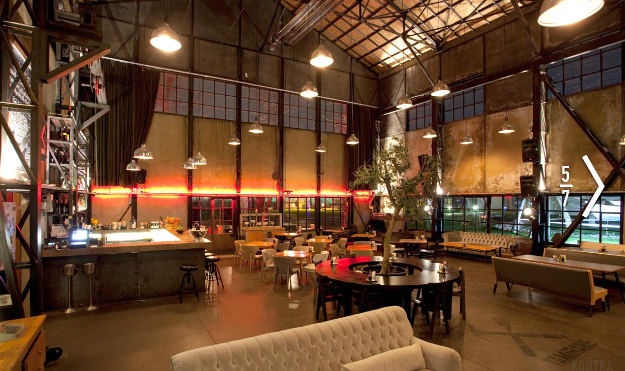 Rustic Industrial Interior Design Cafe
