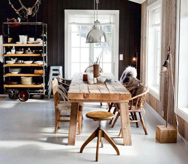 Rustic Industrial Interior Design Kitchen