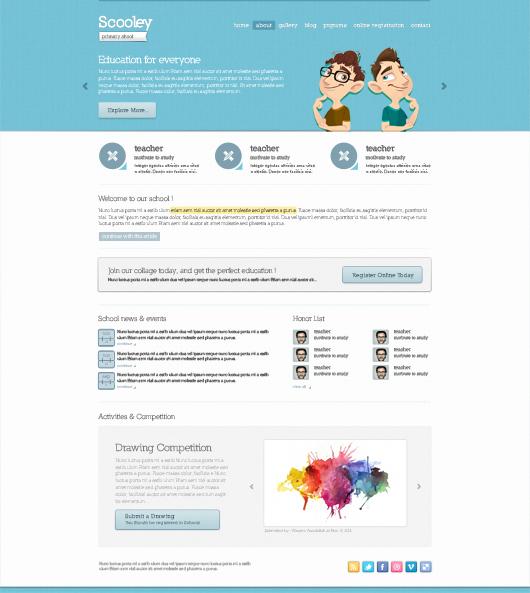 School Templates Website