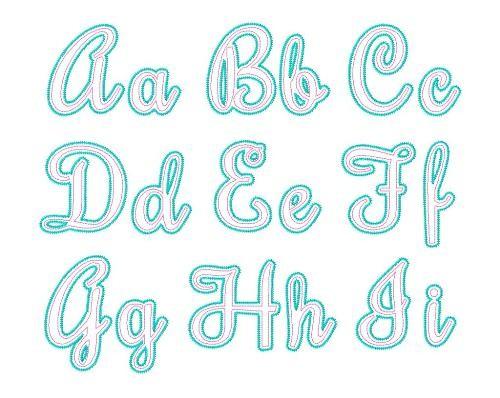 15 Cursive Applique Font Images
