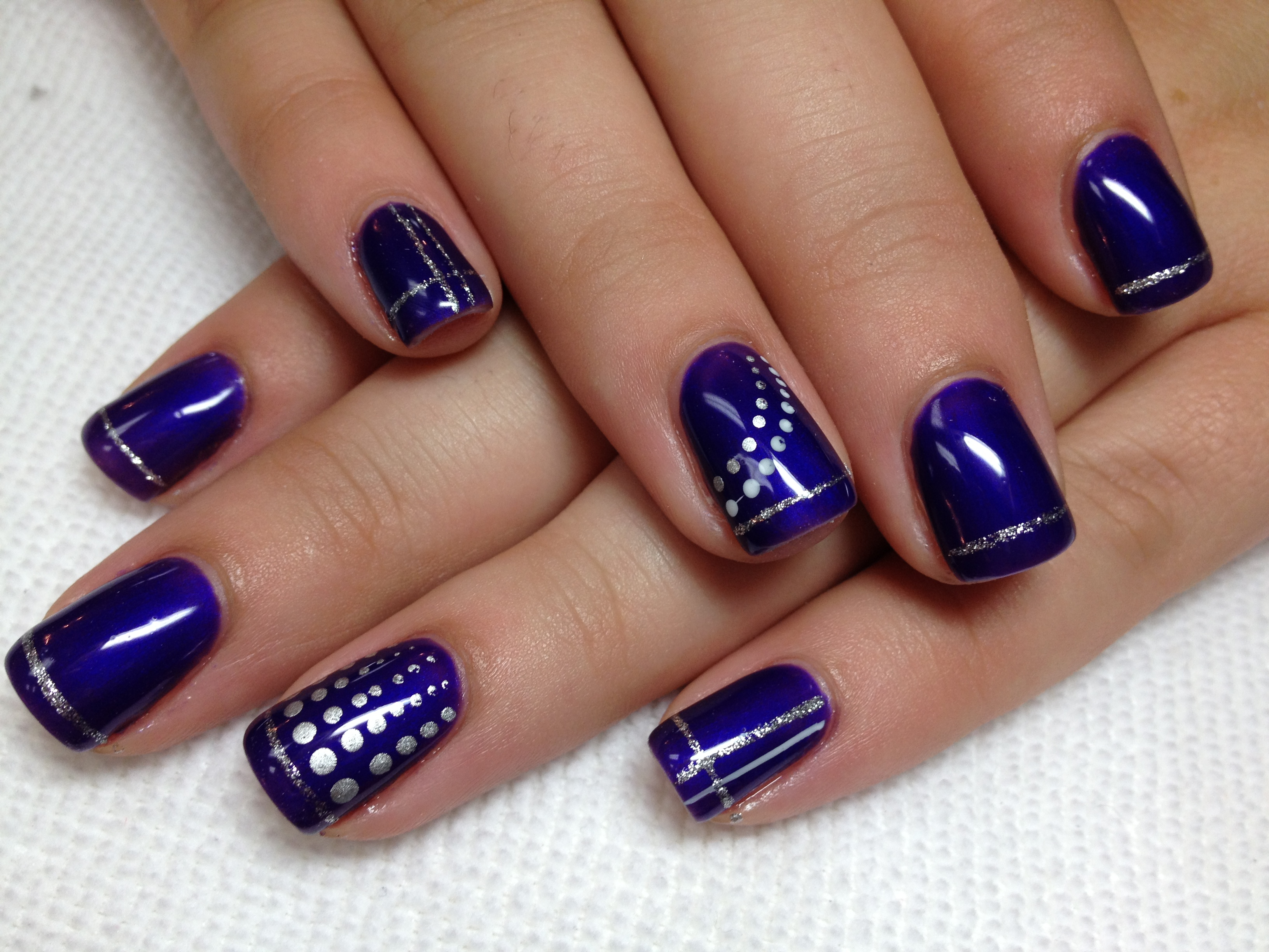 16 Purple And Silver Nail Designs Images - Purple Glitter Acrylic ...