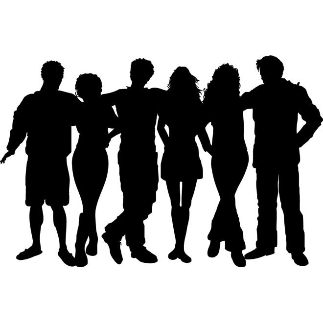 Silhouette People Group Clip Art