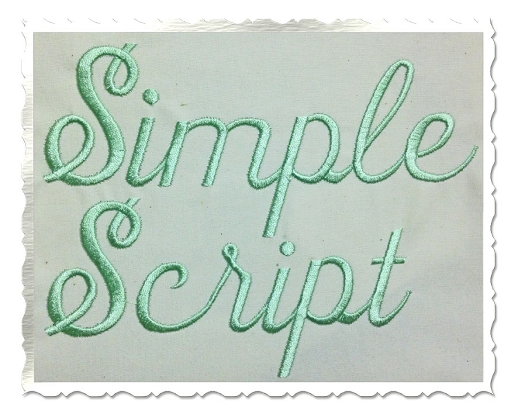 Simple Embroidery Script Font
