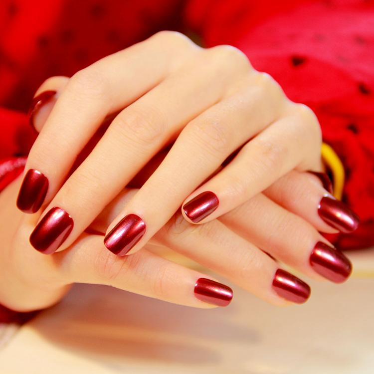 Solid Color Square Nail Designs