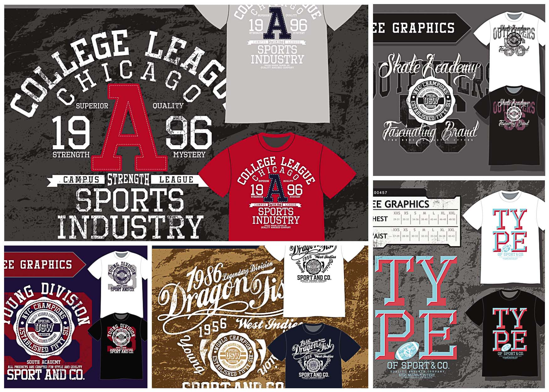 Sports T-Shirt Design Templates