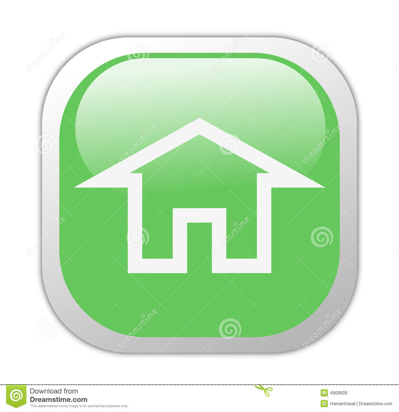 Square Home Button Icon