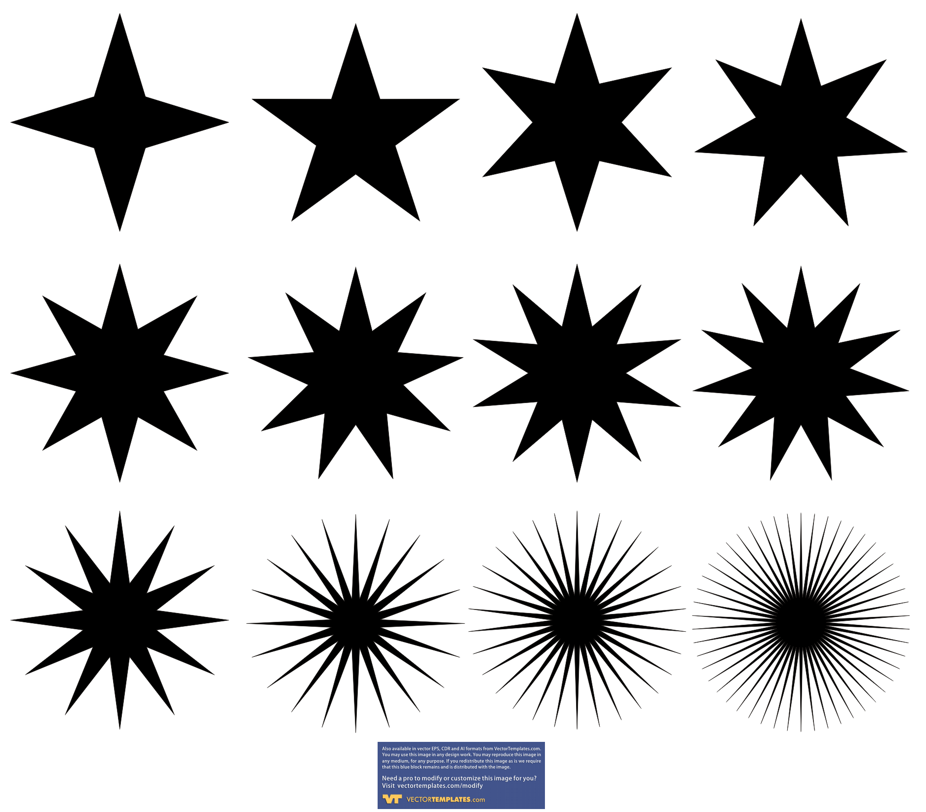 16 Star Graphic Vector Art Images