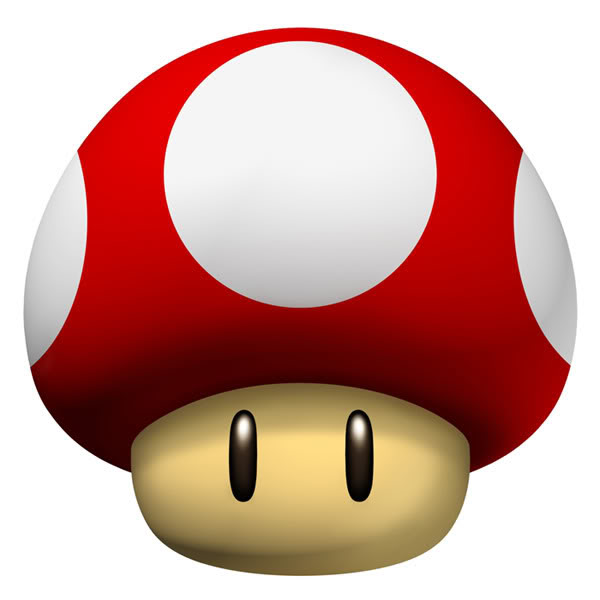 Super Mario Bros Mushrooms Clip Art