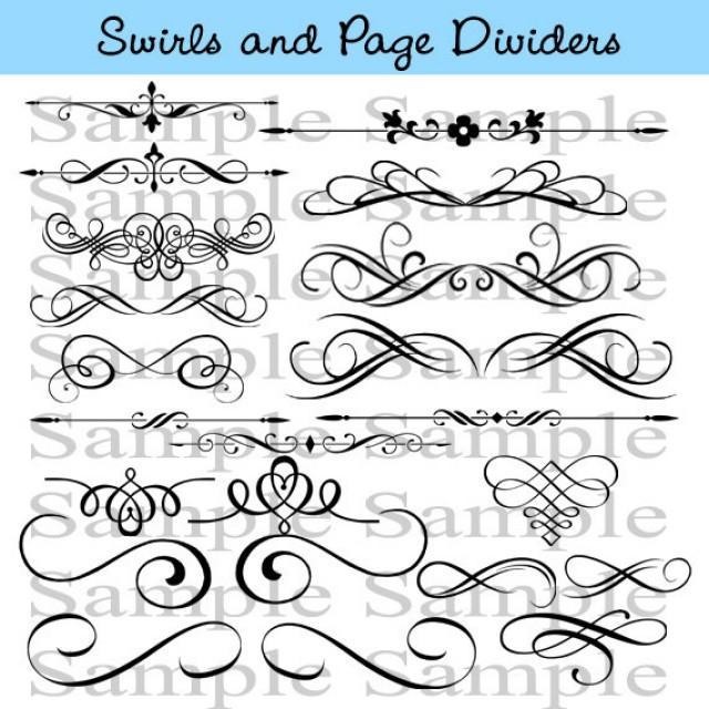 Swirl Divider Clip Art