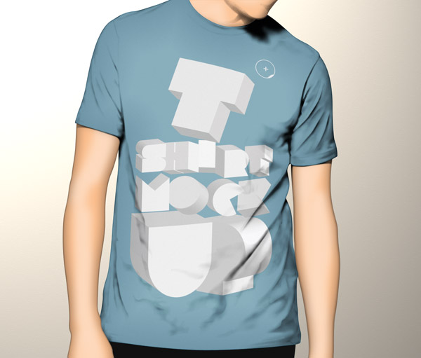 T-Shirt Mock UPS PSD Templates Free