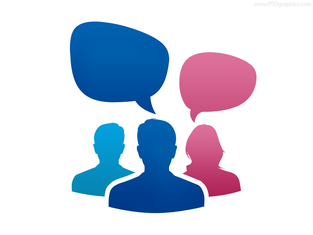 12 Group Conversation Icon Images