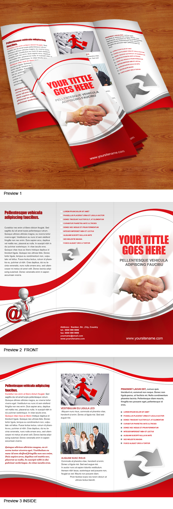 12 Free Tri-Fold Brochure Template PSD Images