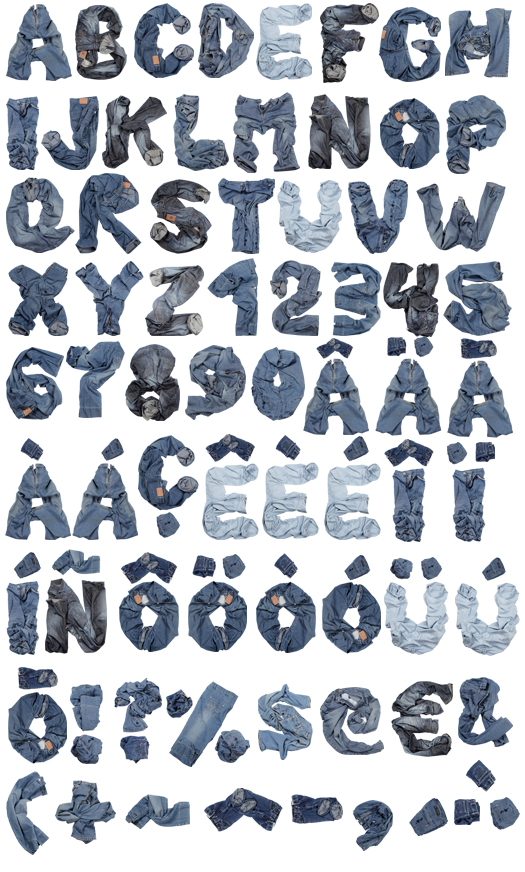 Typography Alphabet Font