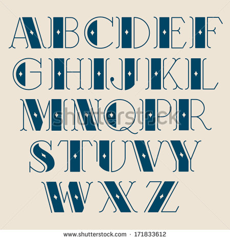 Typography Vintage Font Alphabet