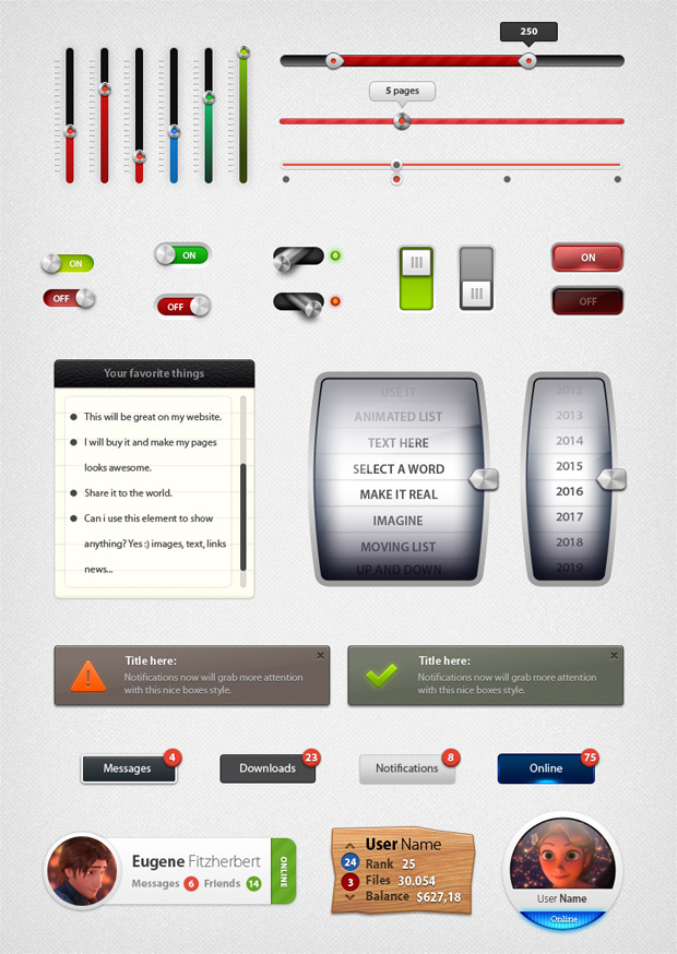 UI Elements Designs