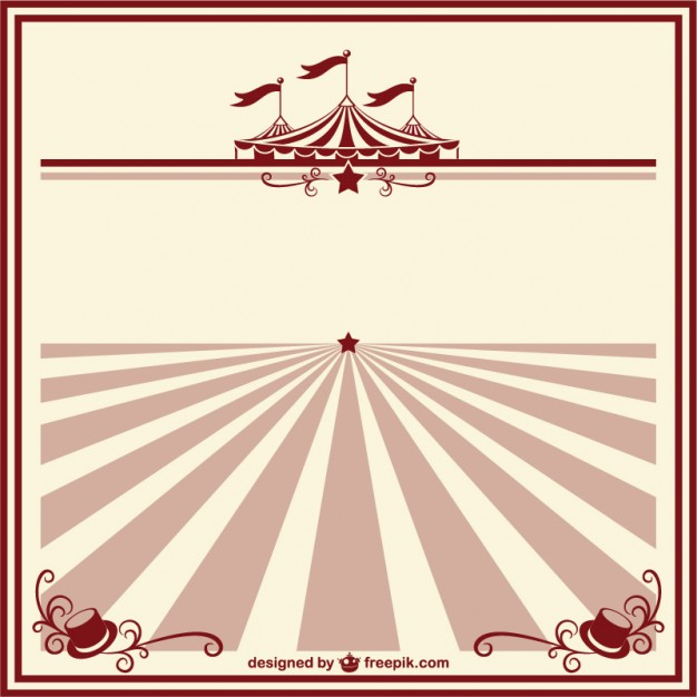 Vintage Circus Templates