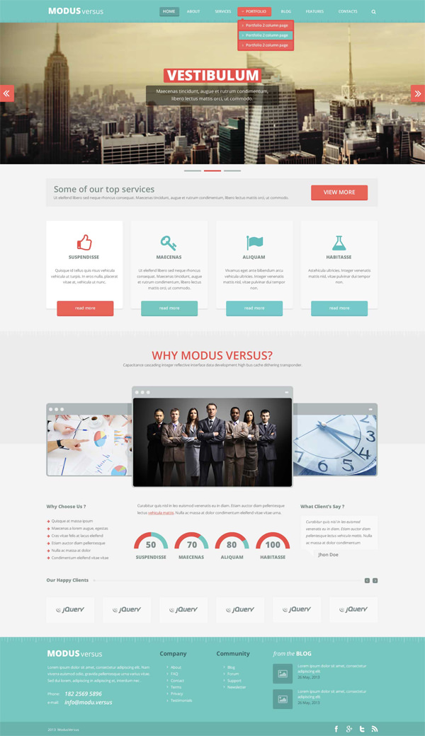 Website Template PSD Free Download