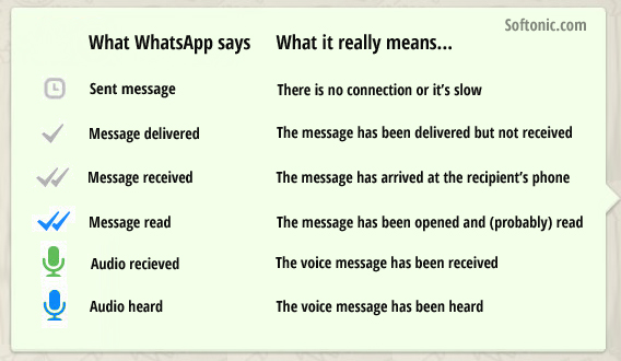 Whats App Icons Meaning