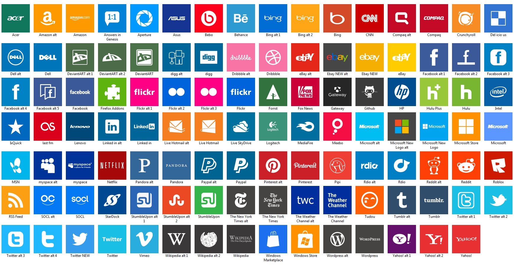 17 Windows 8 Icon Pack Images - Windows 8 Metro Icon Pack, Windows 8