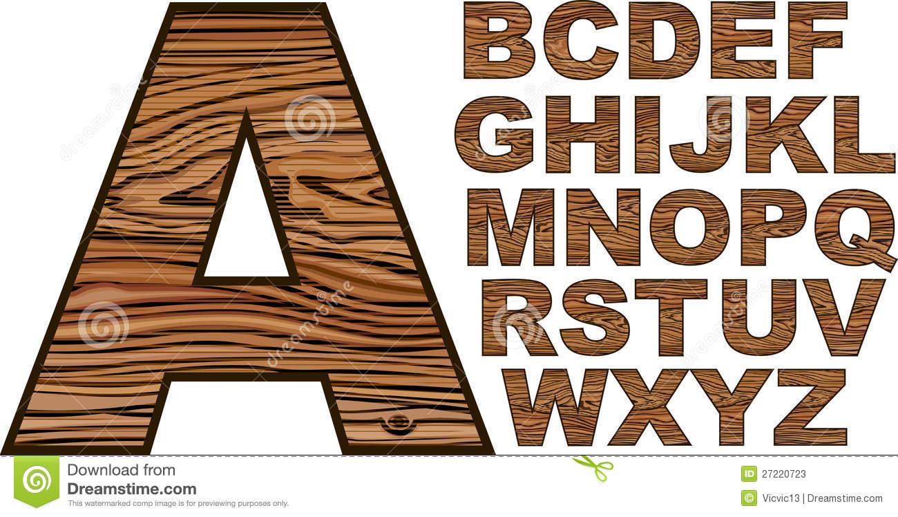 Wood Alphabet Letters Fonts