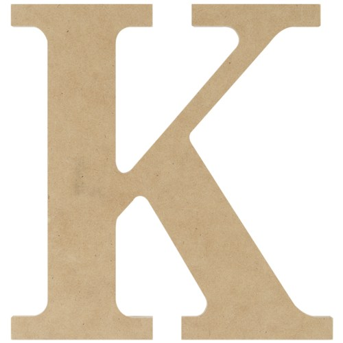 Wood Letter K
