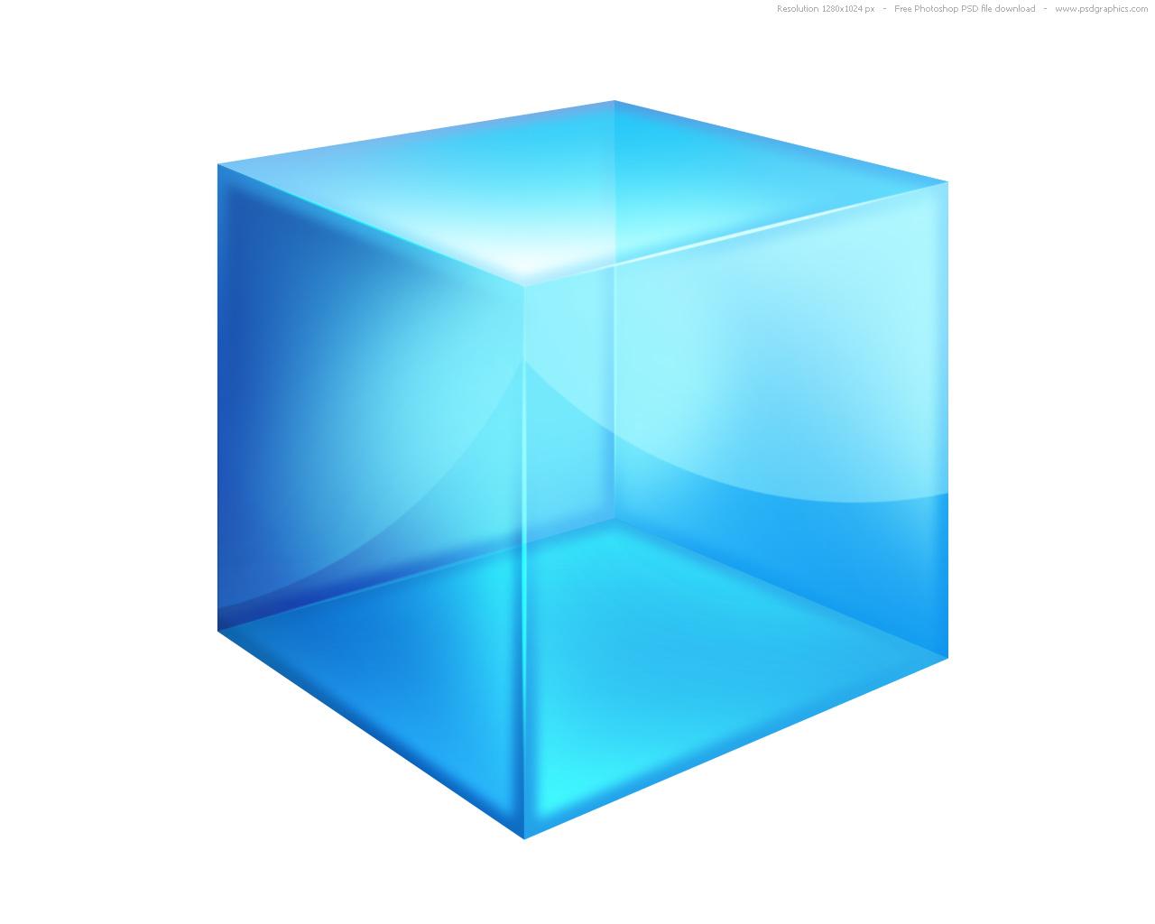 11 3D Cube Desktop Icon PSD Images