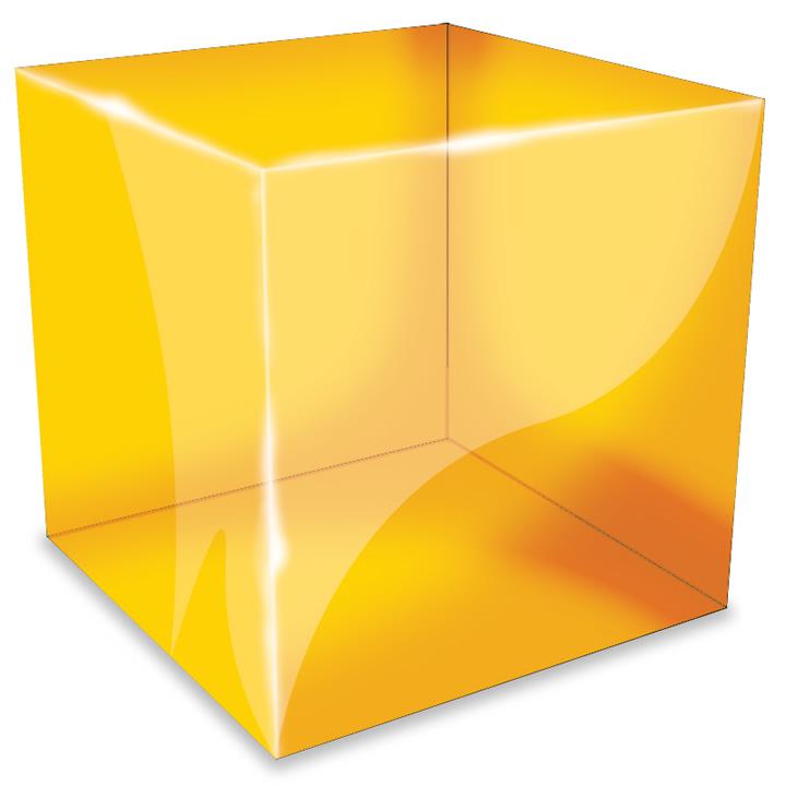 3D Transparent Cube