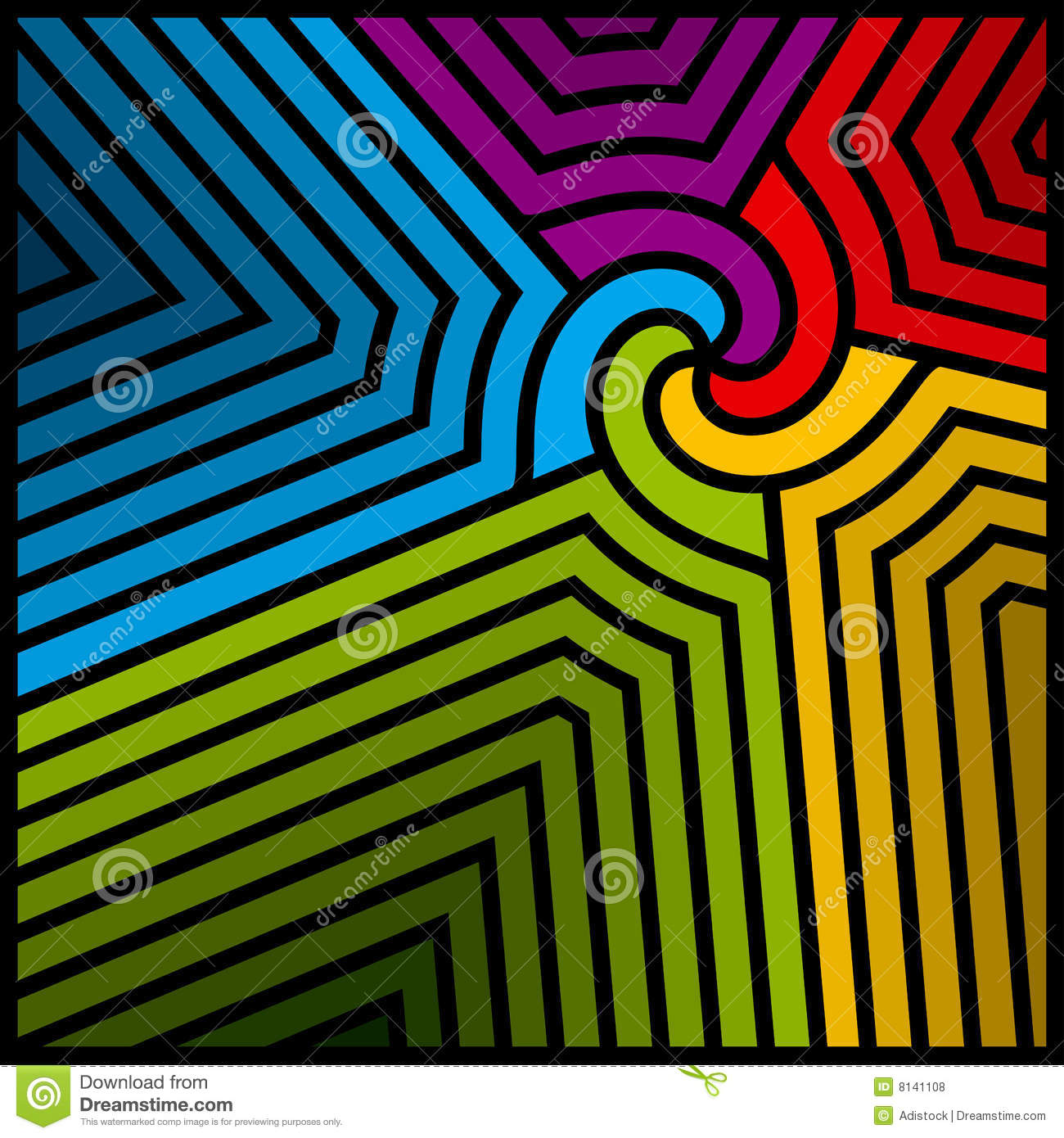 Abstract Color Swirl Vector
