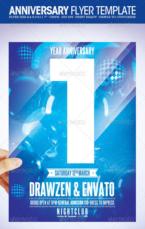 Anniversary Party Flyers Templates Free