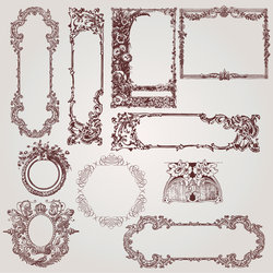 Antique Victorian Frames and Borders