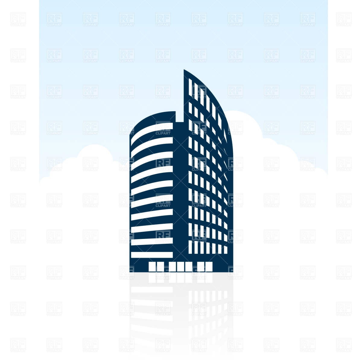Building Silhouette Vector