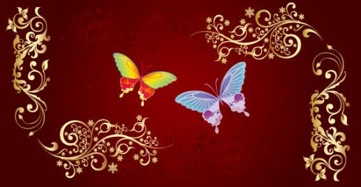 Butterfly and Flower Vector Free