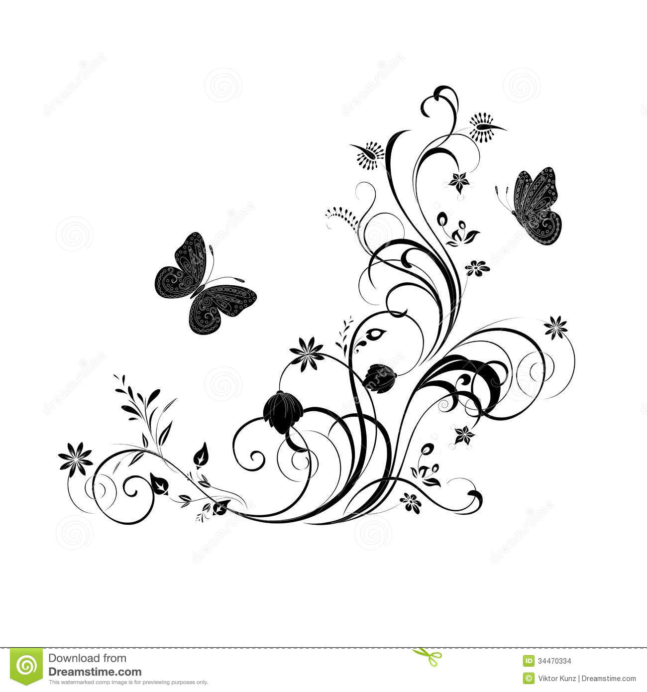 Butterfly Decorative Ornaments Vector